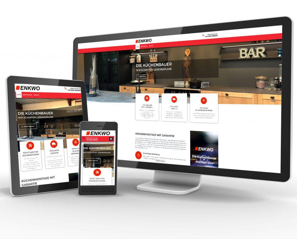 Website und Onlineshop für ENKWO - Die Küchenbauer GmbH